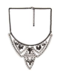 Forever 21 | Black Faux Stone Chandelier Bib Necklace You've Been Added To The Waitlist | Lyst