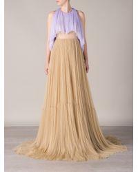 Delpozo Purple Tulle Gown
