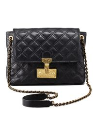 Marc Jacobs Black Single Baroque Large Quilted Bag