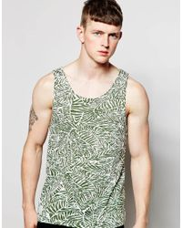 Native Youth | Green Leaf Print Vest for Men | Lyst