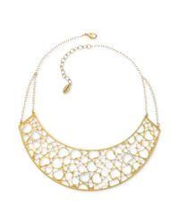 T Tahari - Metallic 14k Goldplated Heart Frontal Heart Necklace - Lyst