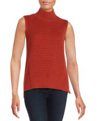Vince Camuto - Brown Sleeveless Knit Sweater - Lyst