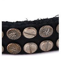 DIESEL | Black Studded Bracelet for Men | Lyst