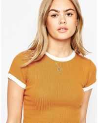 ASOS Metallic Limited Edition 70's Geo Shield Necklace