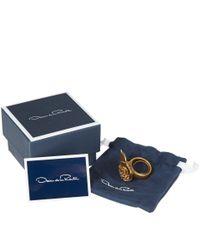 Oscar de la Renta - Metallic Gold-Tone Flower Ring - Lyst