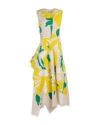 Marni - Natural 3/4 Length Dress - Lyst