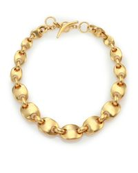 Vaubel - Metallic Solid Ships Chain Necklace - Lyst