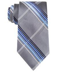 Geoffrey Beene | Gray Giant Grid Tie for Men | Lyst