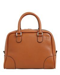 Loewe - Brown Small Amazona 75 Grained Leather Bag - Lyst