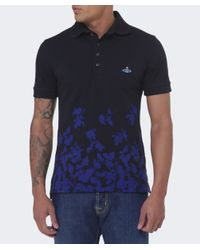 Vivienne Westwood - Blue Absence Of Roses Polo Shirt for Men - Lyst