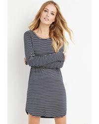 Forever 21   Blue Striped T-shirt Dress   Lyst