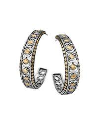 John Hardy Metallic Naga Large Hoop Earrings