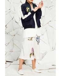 Stella McCartney - Blue Lorinda Embroidered Bomber - Lyst