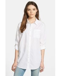 Caslon | White Boyfriend Shirt | Lyst