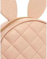 ASOS - Pink Quilt Cross Body Bag with Rabbit Ears - Lyst