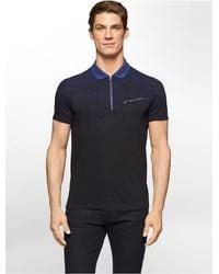 Calvin Klein - Blue White Label Ck One Gradient Print Zip Polo Shirt for Men - Lyst
