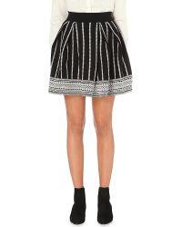 Maje | Black Jessica Stretch-jersey Skirt | Lyst