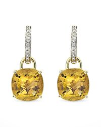 Kiki McDonough - Metallic Eternal 18k Gold Citrine Diamond Earrings - Lyst