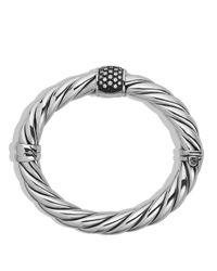 David Yurman Metallic Cable Classics Bracelet With Diamonds