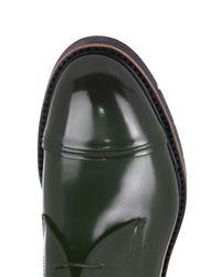 Fendi Black Leather Lace-Up Derby Shoes for men