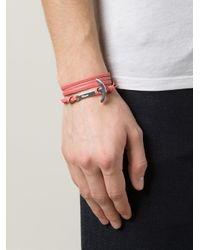 Miansai - Red Anchor Detail Bracelet for Men - Lyst