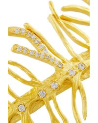 Kevia Metallic Gold-Plated Crystal Cuff