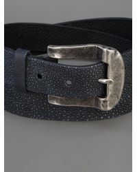 Scunzani Ivo - Blue Stingray Metal Buckle Belt - Lyst