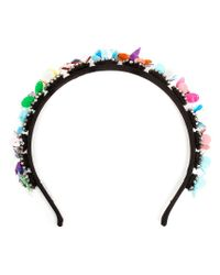 Shourouk - Black 'Camelia Jumble' Headband - Lyst