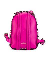 Valentino - Purple Mini 'rockstud' Backpack - Lyst