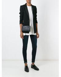 Armani Jeans Black Zipped Slim Cross Body Bag