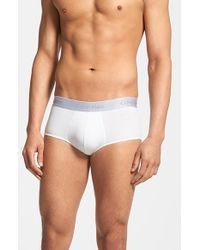 Calvin Klein | White 'superior' Cotton Blend Briefs for Men | Lyst