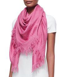 Gucci - Pink Survie C.o. Shawl - Lyst