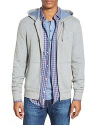 Original Penguin | Gray Waffle Knit Zip Hoodie for Men | Lyst