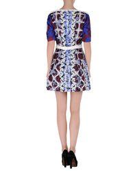 Peter Pilotto Blue Short Dress