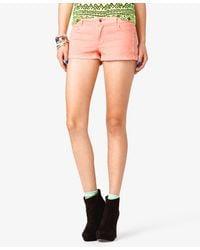 Forever 21 | Pink Studded Denim Shorts | Lyst
