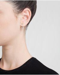 Yvonne Léon | 18K White Gold And Diamond Lobe Earring | Lyst