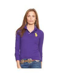 Polo Ralph Lauren - Purple Skinny-fit Big Pony Polo - Lyst