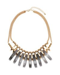 H&M | Gray Short Necklace | Lyst