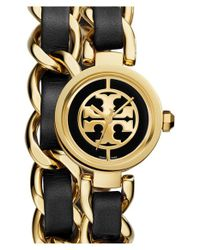 Tory Burch | Metallic 'mini Reva' Double Wrap Chain Watch | Lyst