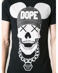 Philipp Plein - Black Dope Skull Print T-Shirt for Men - Lyst
