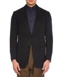 Cerruti 1881 Black Japanese-wool Single-breasted Jacket for men
