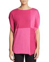 Armani - Pink Tonal Check Cocoon Tunic - Lyst