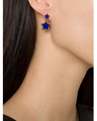 Marie-hélène De Taillac | Blue Lapis Lazuli Drop Star Earrings | Lyst