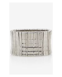 Express Metallic Textured Metal Stretch Bracelet