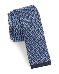 Etro | Blue Knit Silk Tie for Men | Lyst