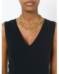 Nina Ricci - Metallic 'bouquet' Necklace - Lyst