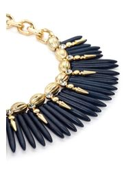 Kenneth Jay Lane | Blue Spike Chain Necklace | Lyst