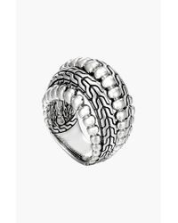 John Hardy | Metallic 'classic Chain' Dome Ring | Lyst