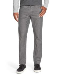 Vince Black 'soho' Slim Fit Melange Twill Pants for men