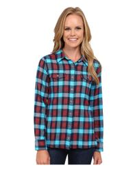 Patagonia - Blue Long Sleeve Fjord Flannel Shirt - Lyst